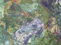 The western region of - Multicolored abstract painting. United States