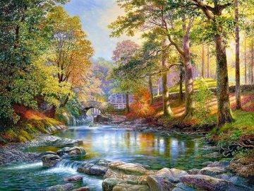 Park landscape. - Landscape puzzle.