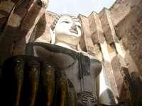 Buddha gigante in Sukhotai Tailandia - Buddha gigante in Sukhotai Tailandia