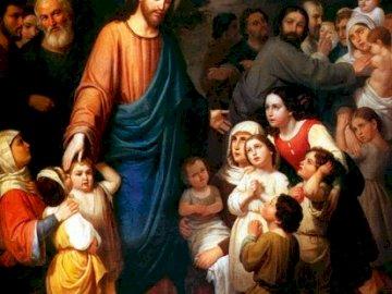 Jesus und die Kinder - Jesus liebte es so sehr, mit Kindern zusammen zu sein