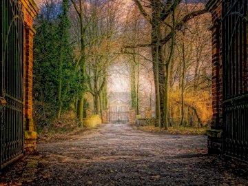 willa widziana z bramy - willa widziana z bramy
