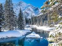Winter in de Tatra. - Landschap puzzel.