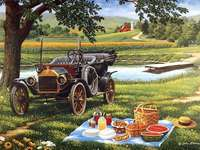 Picnic in the summer.