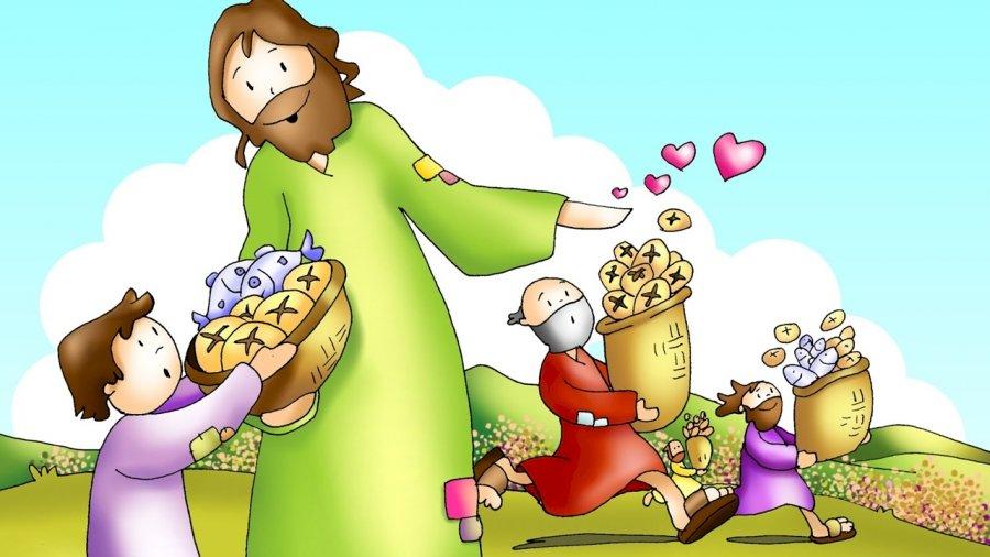 Milagro multiplicación panes y peces - Rompecabezas de multiplicación milagrosa panes y peces para niños de jardín de infantes (17×10)