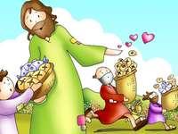 Milagro multiplicación panes y peces