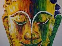 pintura de buda multicolor en Tailandia - pintura de buda multicolor en Tailandia