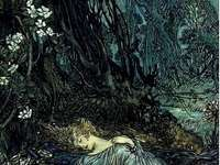 ležící lesní žínka - ležící lesní žínka