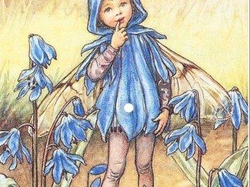 dívka als modrý motýl - dívka als modrý motýl