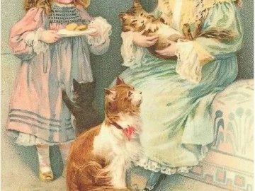sestřičky a malé kočičky - sestřičky a malé kočičky