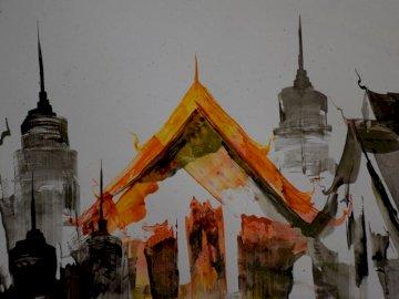 Tajskie malarstwo jednej z jego świątyń - Tajskie malarstwo jednej z jego świątyń