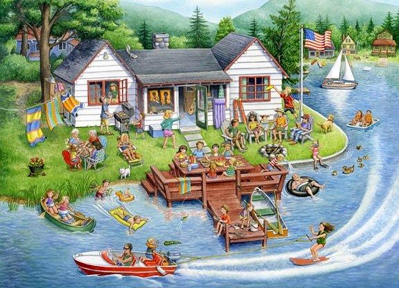 Amerykańskie wakacje. - Układanka krajobrazowa.