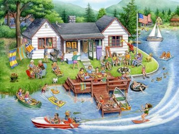 American holiday. - Landscape puzzle.