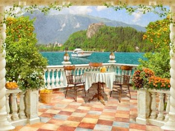 View from the terrace. - Landscape puzzle.