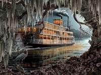 Steamboat. - Landschap puzzel.