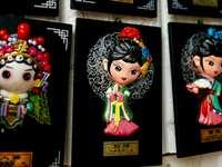 Wuxi Huishan Ancient Town's - Geisha sculptures. jiangsu,wuxi