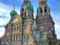 Ortodox kyrka i St Petersburg.