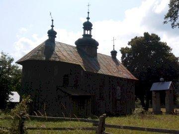 Vergessene orthodoxe Kirche - orthodoxe Holzkirche in Podkarpacie