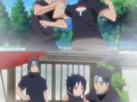 Itachi, Shisui and Sasuke - Itachi, his best friend and his little brother before misfortunes