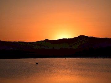 Sonnenuntergang in Mandalay Myanmar - Sonnenuntergang in Mandalay Myanmar