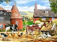 Mezőgazdasági táj. - Vidéki hangulatok. Táj puzzle. Fekvő. Vidéki hangulatok.