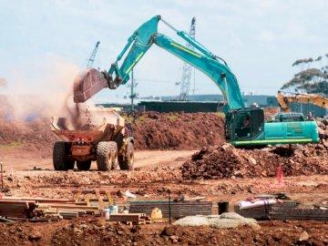 Construction Site - Green track decor. Melbourne, Australia