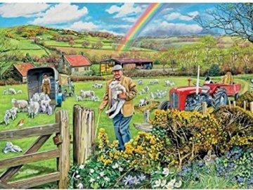 Landscape with a rainbow. - Landscape puzzle.