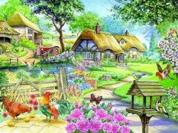 Malarstwo: wieś. - Układanka. Malarstwo.