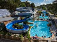 Плувен басейн в къмпинг Moulin de l'Eclis