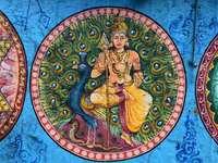 Beschilderde plafonds in Indiase tempels - Beschilderde plafonds in Indiase tempels