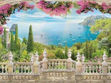 Sea View. - Landscape puzzle.
