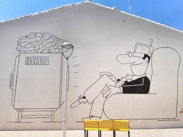Mural miejski - Mural znajduje się w Vila-real, Castellón