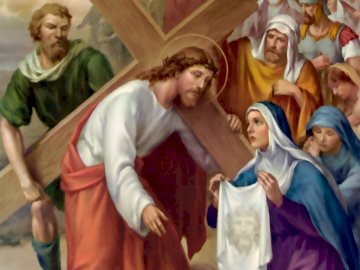 Lent - St. VI station Veronica wipes the face of Jesus