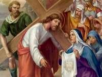 Carême - Gare de St. VI Veronica essuie le visage de Jésus