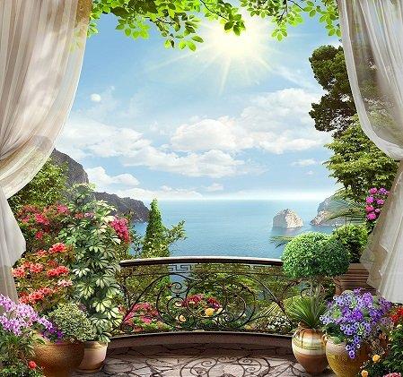 Panorama da varanda. quebra-cabeça online