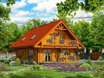 Maison en bois. - Construction: maison en bois.