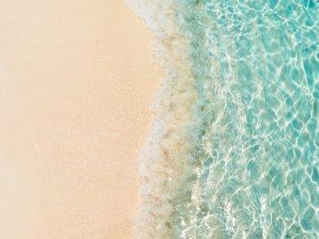 Yin Yang - Top-view photography of seashore. KL, Malaysia