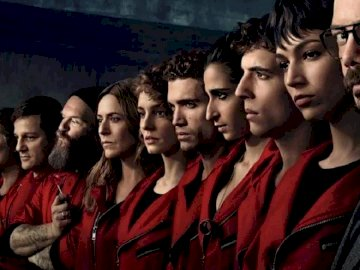 LA CASA DE PAPEL - Puzzle with the characters of the TV series La casa de papel.