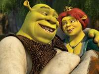 Shrek - barnpussel - Shrek - uppmärksamhetsinriktad övning. Pussel för skolbarn. Pussel för barn i klass I-IV.