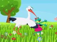 Béka és gólya