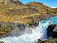 Mountains - Mountains and waterfall