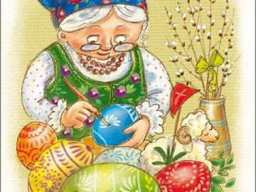 Coloridos huevos de Pascua. - Rompecabezas: coloridos huevos de Pascua.