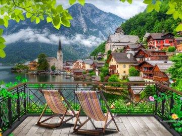 View of Hallstatt. - Landscape puzzle.