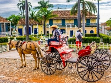 From Cuban life - From Cuban life, street, horse drawn carriage