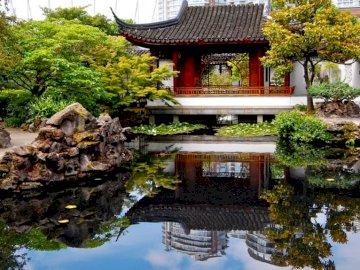 chinese garden - beautiful chinese garden