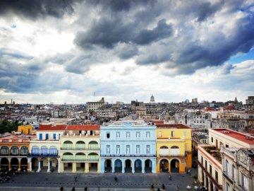 Widok na Havane - Piękny krajobraz, Havana stolica Kuby
