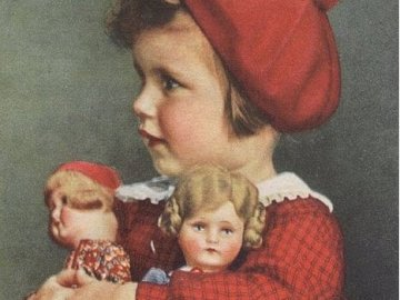 dívenka a její panenky - dívenka a její panenky
