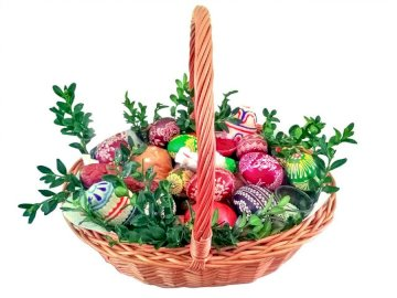 Easter basket - Arrange the puzzles showing the Easter basket Easter basket