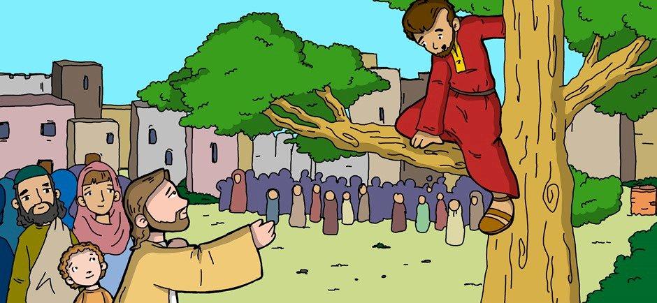 Zaqueo - Te contaré hoy sobre Zaqueo, quien después de conocer a Jesús cambió su comportamiento (6×3)