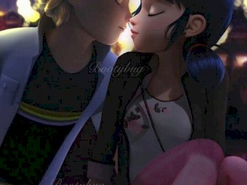 miraculous - Marinette and Adrien the perfect lovde couple