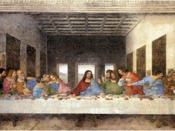 Letztes Abendessen - Gemälde von Leonardo da Vinci, Maler der Renaissance